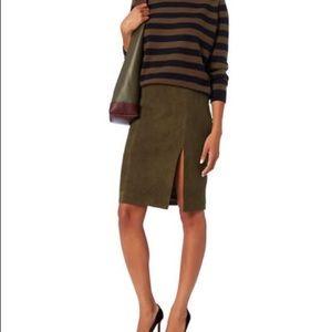 INTERMIX Skirts - Intermix Dona Suede Skirt - Khaki